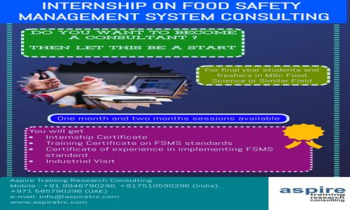 Internship on Food Safety Management System Consulting